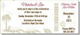 Beach Scene - Bridal | Wedding Destination Boarding Pass Invitations