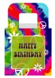 Peace Tie Dye - Personalized Birthday Party Favor Boxes thumbnail