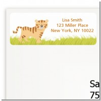 Tiger - Baby Shower Return Address Labels