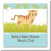 Tiger - Personalized Baby Shower Card Stock Favor Tags