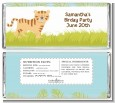 Tiger - Personalized Baby Shower Candy Bar Wrappers thumbnail