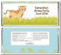 Tiger - Personalized Baby Shower Candy Bar Wrappers