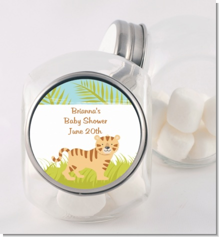 Tiger - Personalized Baby Shower Candy Jar