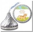 Tiger - Hershey Kiss Baby Shower Sticker Labels thumbnail