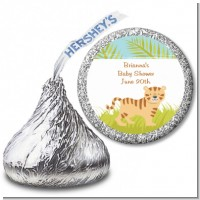 Tiger - Hershey Kiss Baby Shower Sticker Labels