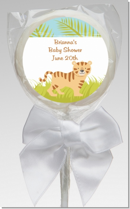 Tiger - Personalized Baby Shower Lollipop Favors