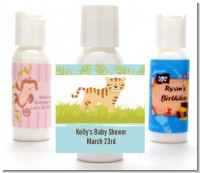 Tiger - Personalized Baby Shower Lotion Favors