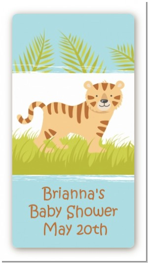 Tiger - Custom Rectangle Baby Shower Sticker/Labels