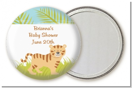 Tiger - Personalized Baby Shower Pocket Mirror Favors