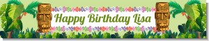 Luau Tiki - Personalized Birthday Party Banners