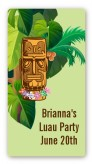 Luau Tiki - Custom Rectangle Birthday Party Sticker/Labels