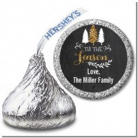 Tis The Season - Hershey Kiss Christmas Sticker Labels