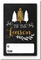 Tis The Season - Custom Large Rectangle Christmas Sticker/Labels
