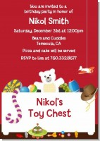 Toy Chest - Birthday Party Invitations