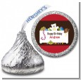 Toy Chest - Hershey Kiss Birthday Party Sticker Labels thumbnail