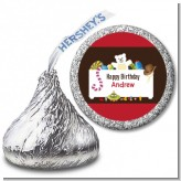 Toy Chest - Hershey Kiss Birthday Party Sticker Labels