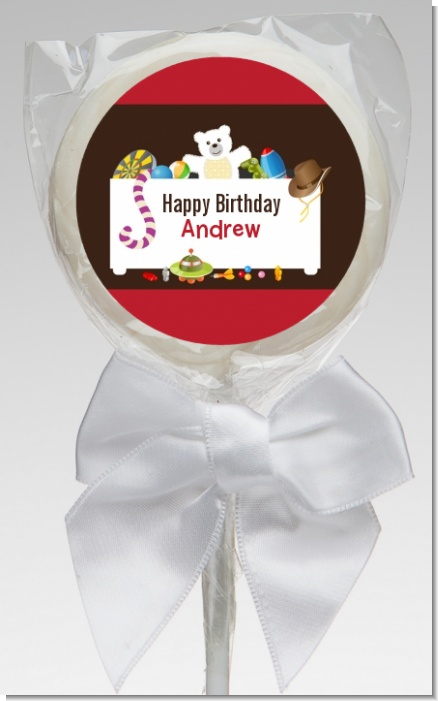 Toy Chest - Personalized Birthday Party Lollipop Favors