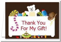 Toy Chest - Birthday Party Thank You Cards