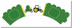 Tractor Truck - Baby Shower Cupcake Wrappers