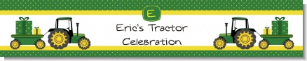 Tractor Truck - Personalized Baby Shower Banners