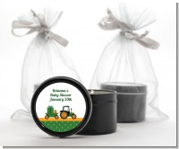 Tractor Truck - Baby Shower Black Candle Tin Favors