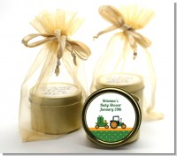Tractor Truck - Baby Shower Gold Tin Candle Favors