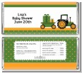 Tractor Truck - Personalized Baby Shower Candy Bar Wrappers thumbnail