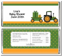 Tractor Truck - Personalized Baby Shower Candy Bar Wrappers