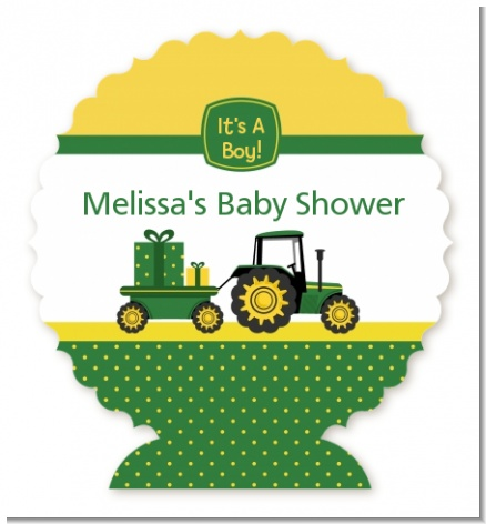 Tractor Truck - Personalized Baby Shower Centerpiece Stand