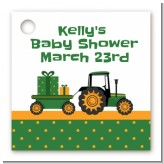 Tractor Truck - Personalized Baby Shower Card Stock Favor Tags