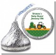 Tractor Truck - Hershey Kiss Baby Shower Sticker Labels thumbnail