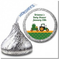 Tractor Truck - Hershey Kiss Baby Shower Sticker Labels