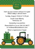 Tractor Truck - Baby Shower Invitations
