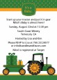 Tractor Truck - Baby Shower Invitations thumbnail