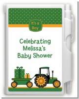 Tractor Truck - Baby Shower Personalized Notebook Favor
