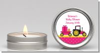 Tractor Truck Pink - Baby Shower Candle Favors