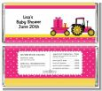 Tractor Truck Pink - Personalized Baby Shower Candy Bar Wrappers thumbnail