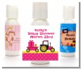 Tractor Truck Pink - Personalized Baby Shower Lotion Favors thumbnail
