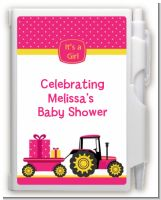 Tractor Truck Pink - Baby Shower Personalized Notebook Favor
