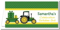 Tractor Truck - Personalized Baby Shower Place Cards