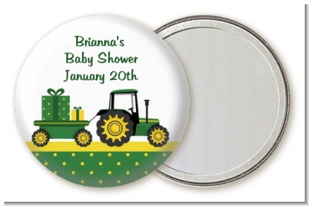 Tractor Truck - Personalized Baby Shower Pocket Mirror Favors