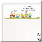 Choo Choo Train - Baby Shower Return Address Labels