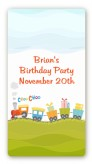 Choo Choo Train - Custom Rectangle Birthday Party Sticker/Labels