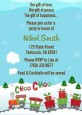 Choo Choo Train Christmas Wonderland - Baby Shower Invitations thumbnail