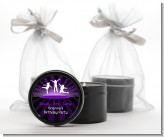 Trampoline - Birthday Party Black Candle Tin Favors