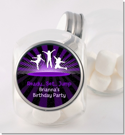 Trampoline - Personalized Birthday Party Candy Jar