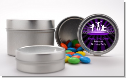 Trampoline - Custom Birthday Party Favor Tins