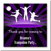 Trampoline - Personalized Birthday Party Card Stock Favor Tags