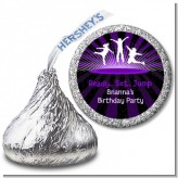 Trampoline - Hershey Kiss Birthday Party Sticker Labels