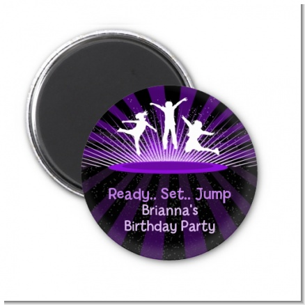 Trampoline - Personalized Birthday Party Magnet Favors